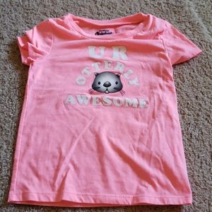 Adorable otter tee from osh kosh in neon pink